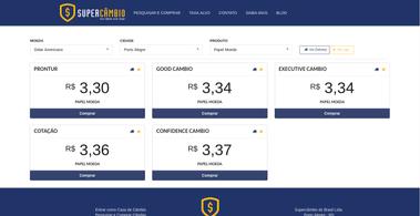 Supercambio: Solução online para facilitar a sua compra e comparação de moeda estrangeira.