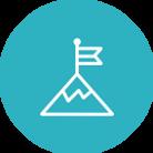 Icone de orientação a resultados