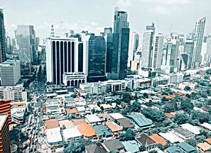 white-concrete-city-buildings-photograph