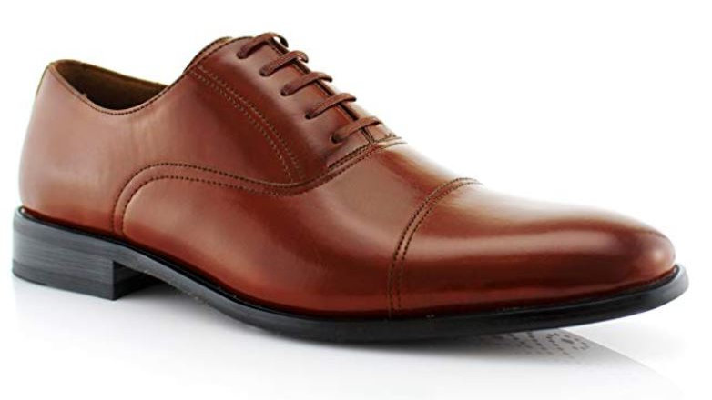 Ferro Aldo Charles Mens Classic Captoe Lace Up Oxford Casual Dress Shoes
