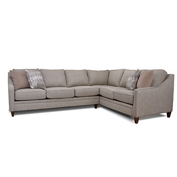 Sectional with 4 Pillows