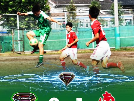 9月11日(土)2021 Training Match VS浦和南 試合結果