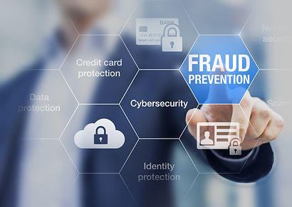 Fraud prevention button, concept about c