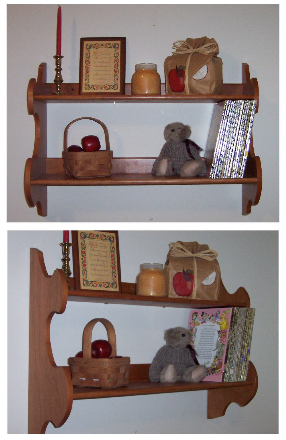 Double Wall Shelves