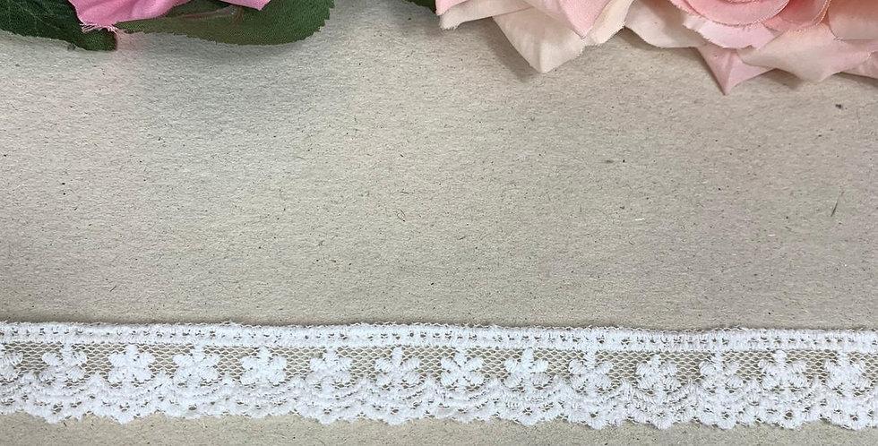Renda de tule off white   - 2cm x 1m