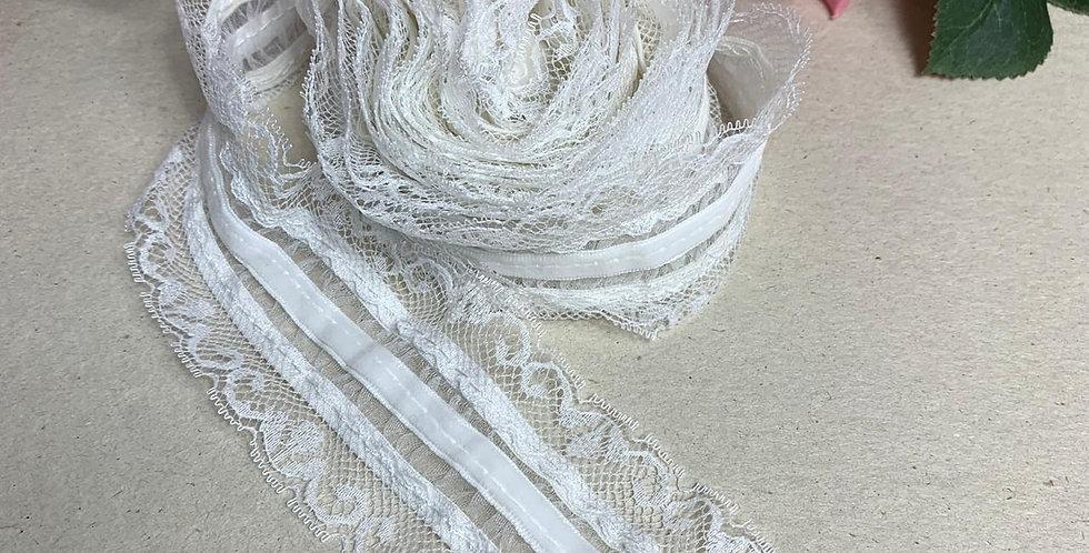 Renda Off White - 6 cm x 3 m