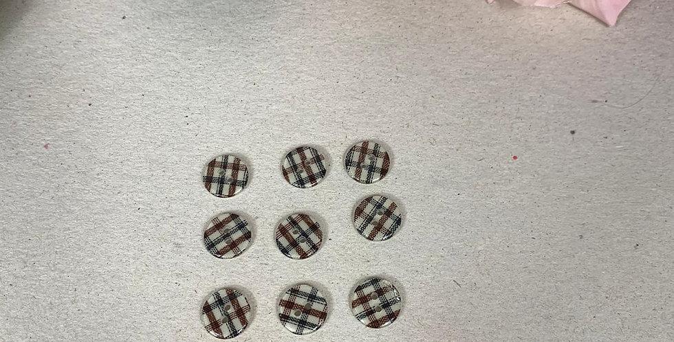 Botão xadrez - 12 unidades