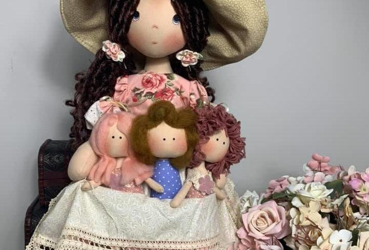 Projeto em PDF - Boneca Mamãe e Filhos