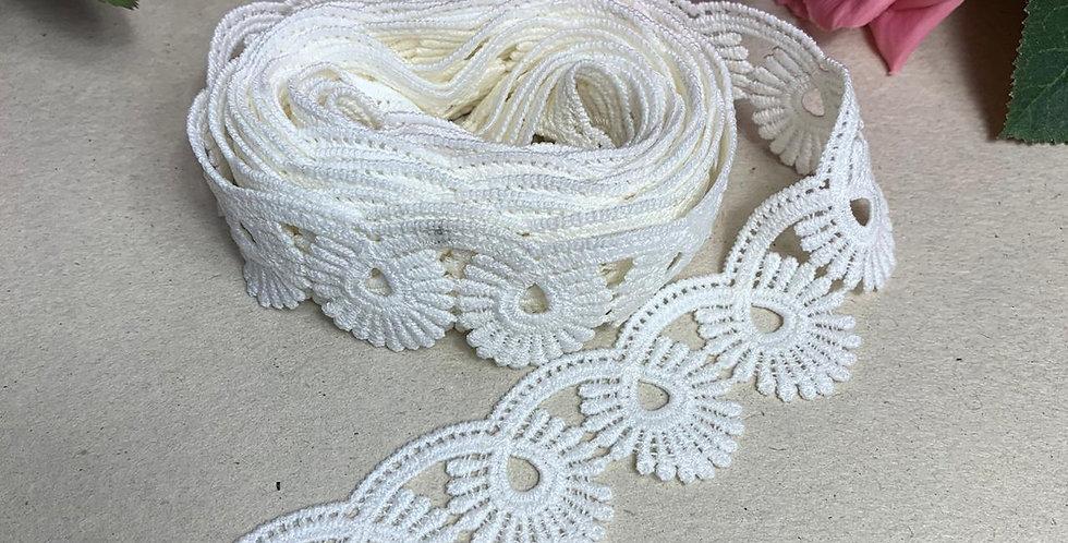 Renda Off White - 3 cm x 3 m