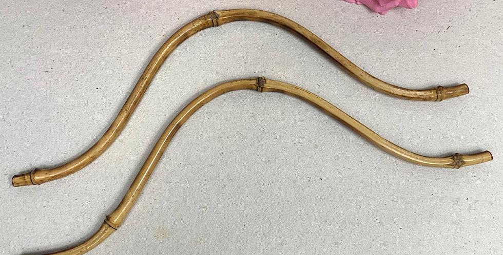Par de alças de bambu - 40cm