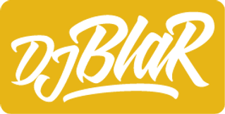 Logo_Dj_Blar___blanc_jaune_rectangle_deÌ
