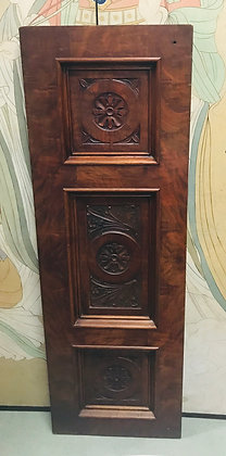 Walnut Panel with Elaborate Carving