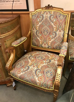 Louis XVI Style Open Arm Chair