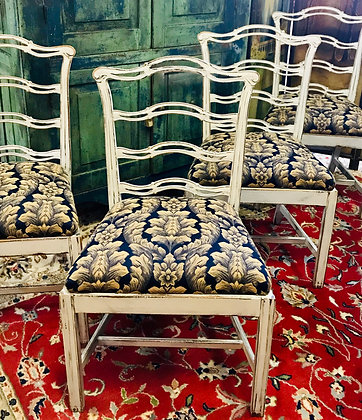Chippendale Ladder Back Dining Chairs