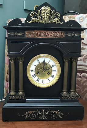 Ansonia French Marble & Dore Bronze Mantle Clock