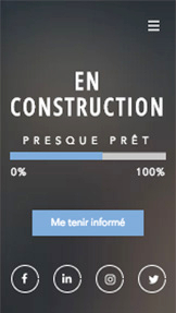 Entreprises de Services website templates – Site en construction