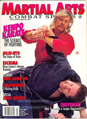"Master Tatum Cover of  ""Martial Arts"" Magazine"