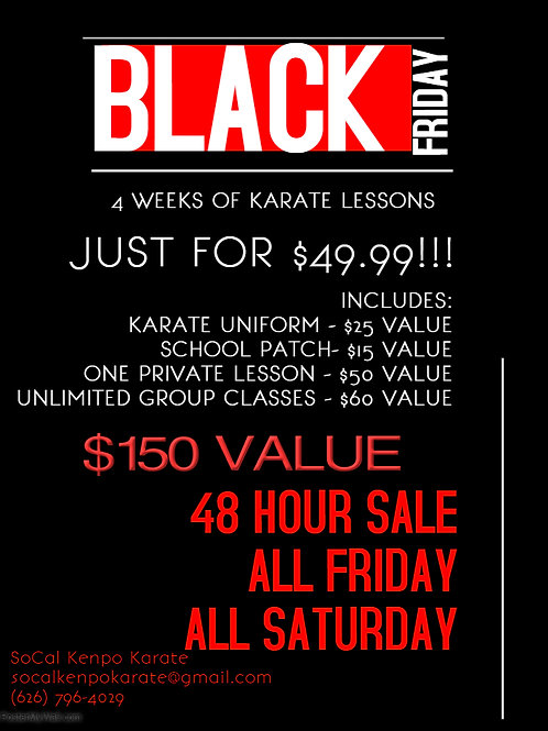 Black Friday Introductory Deal