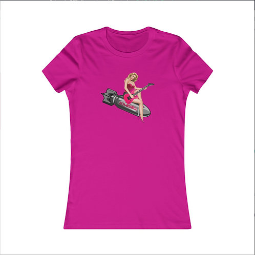 Ladies Bombshell T-Shirt -Hot Pink