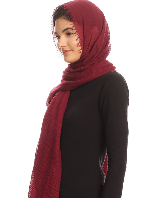 Burgundy Cotton Hijab