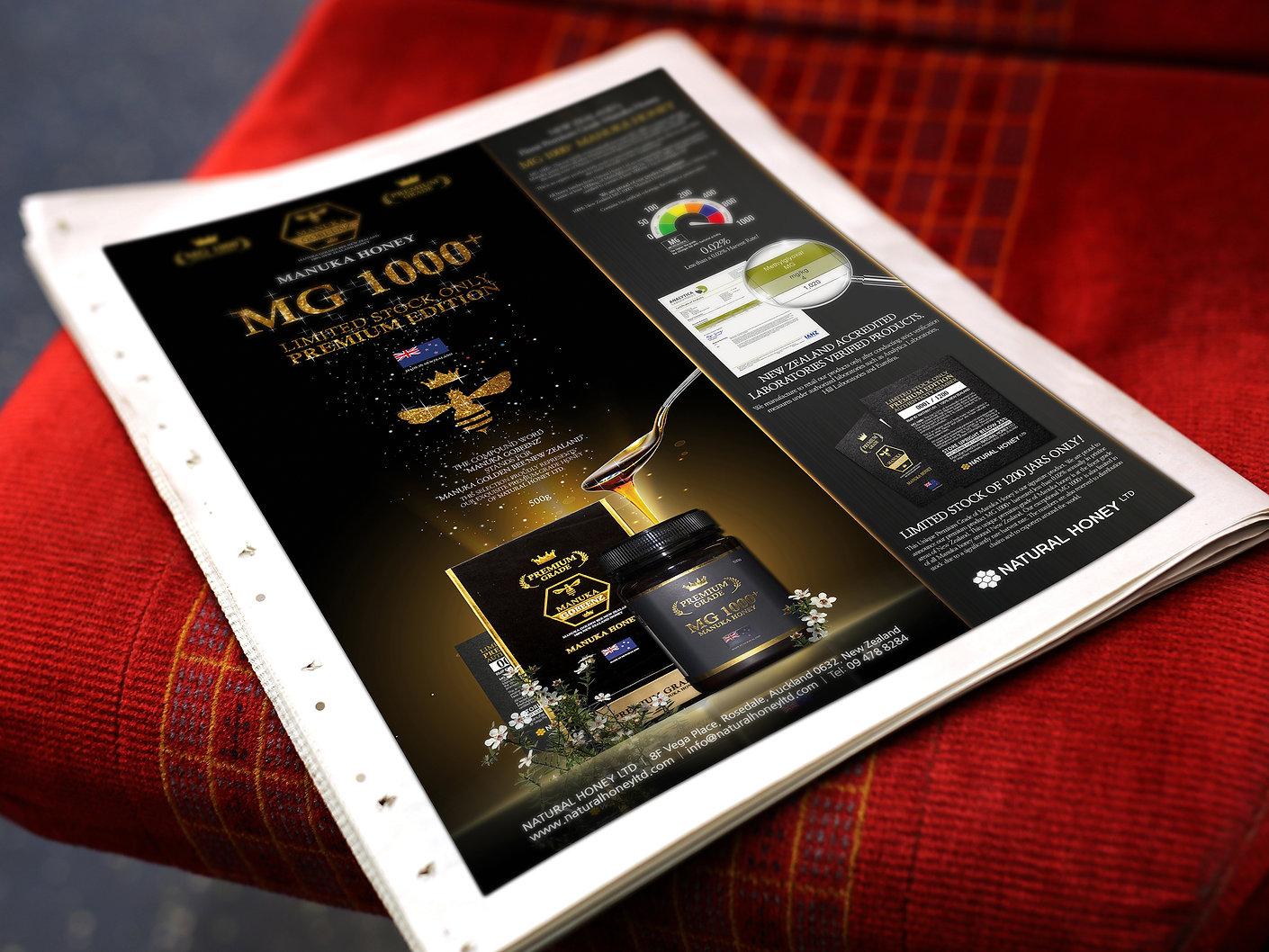 Natural Honey Ltd-Premium Advertisement Design