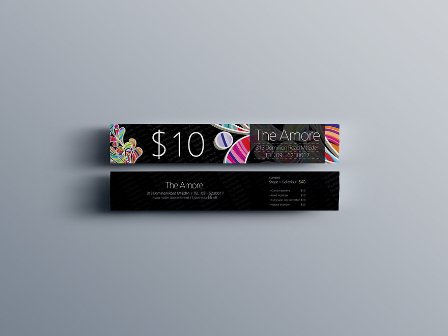 The Amore Nail Salon-Voucher Design