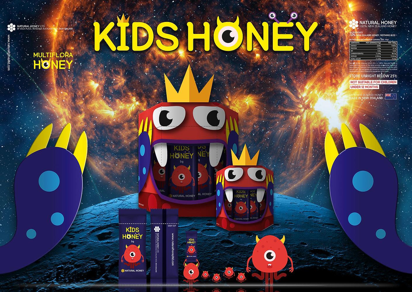 Natural Honey Ltd-Kids Honey Concept Design