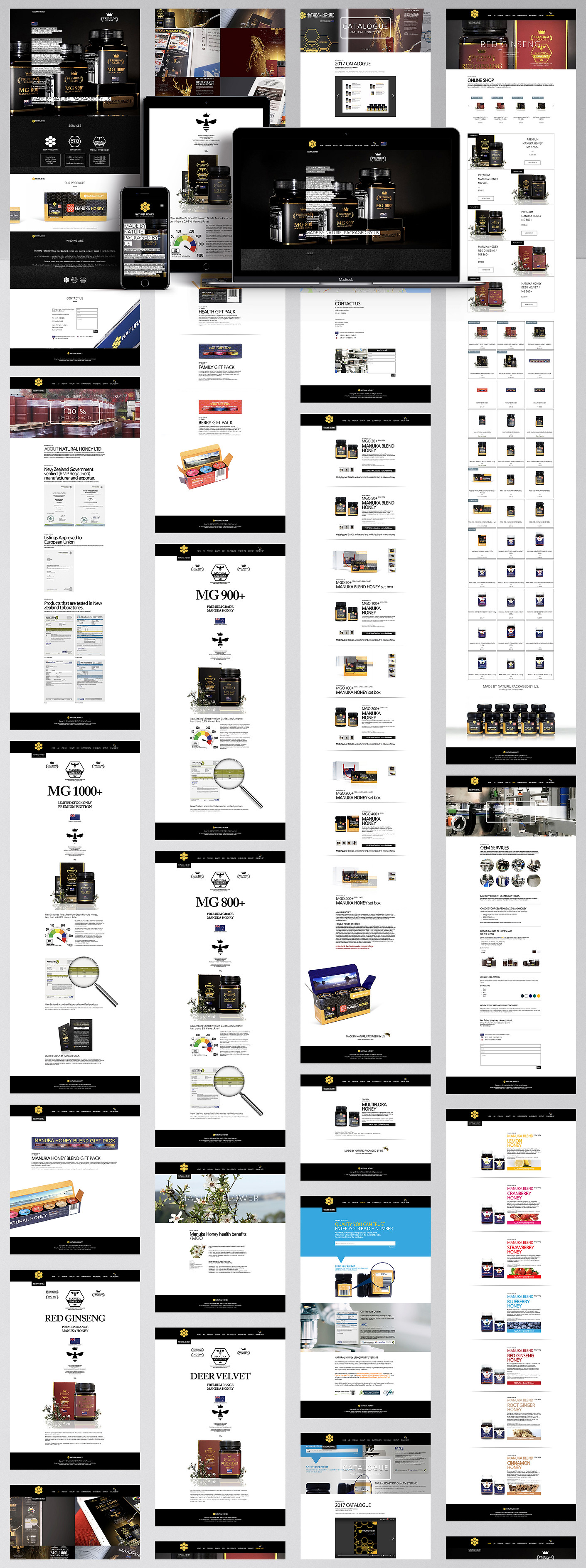Natural Honey Ltd-Homepage Design
