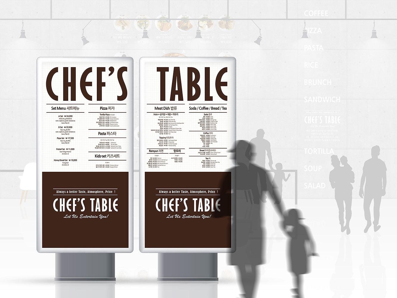 Chef's Table-Billboard Menu Design