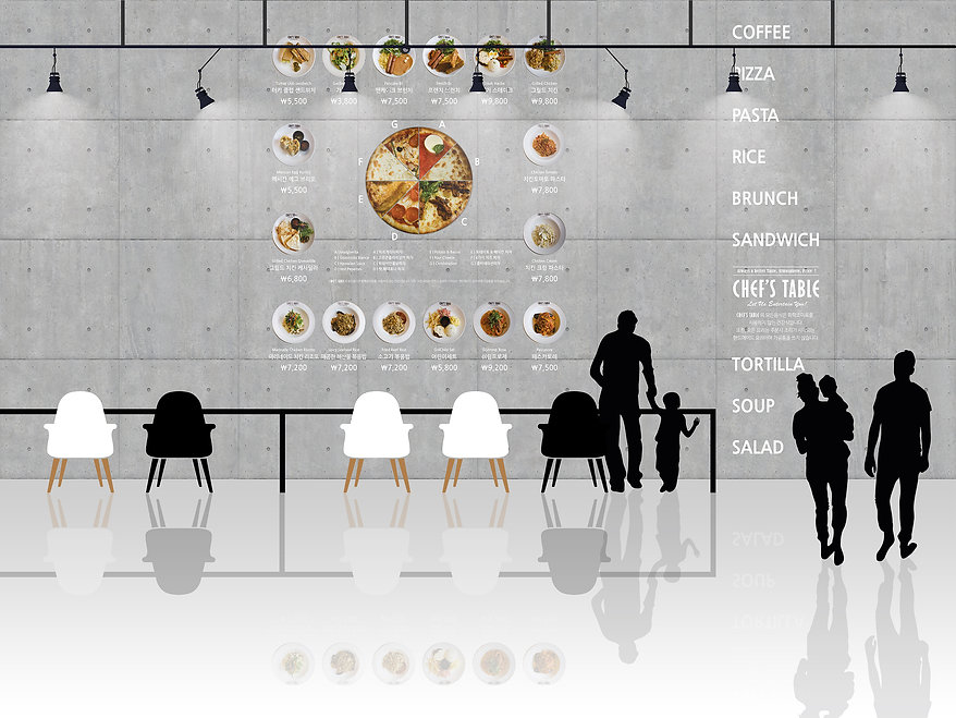Chef's Table-Wall Menu Design