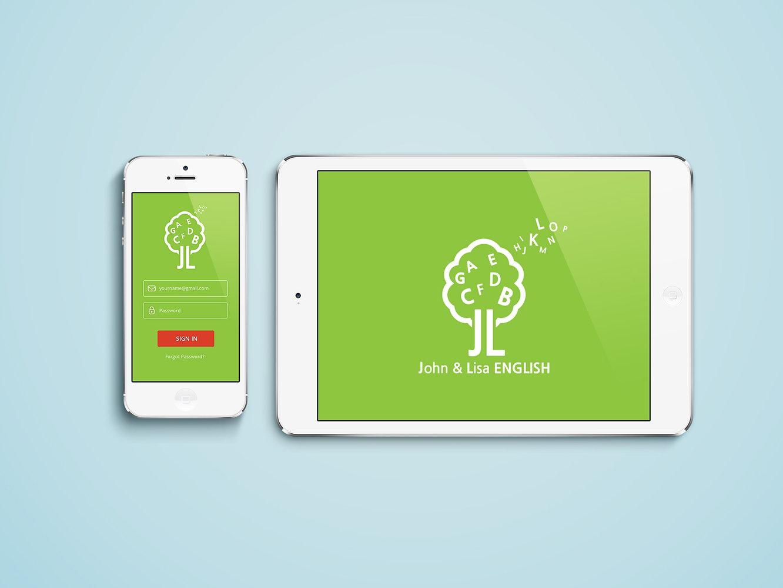 Jhon & Lisa English Academy-Mobile Home Page Design