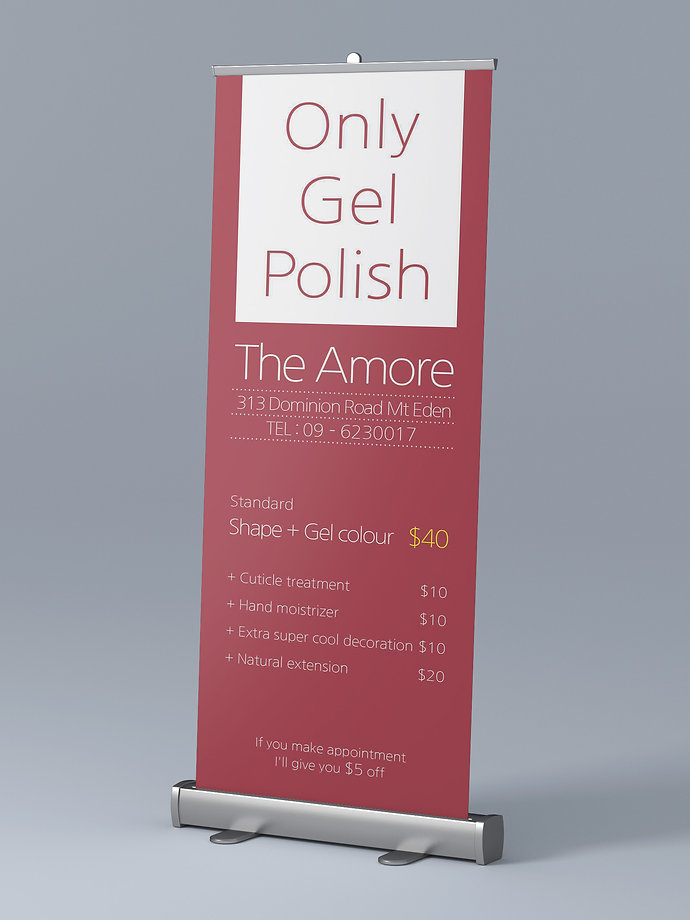 The Amore Nail Salon-Banner Design