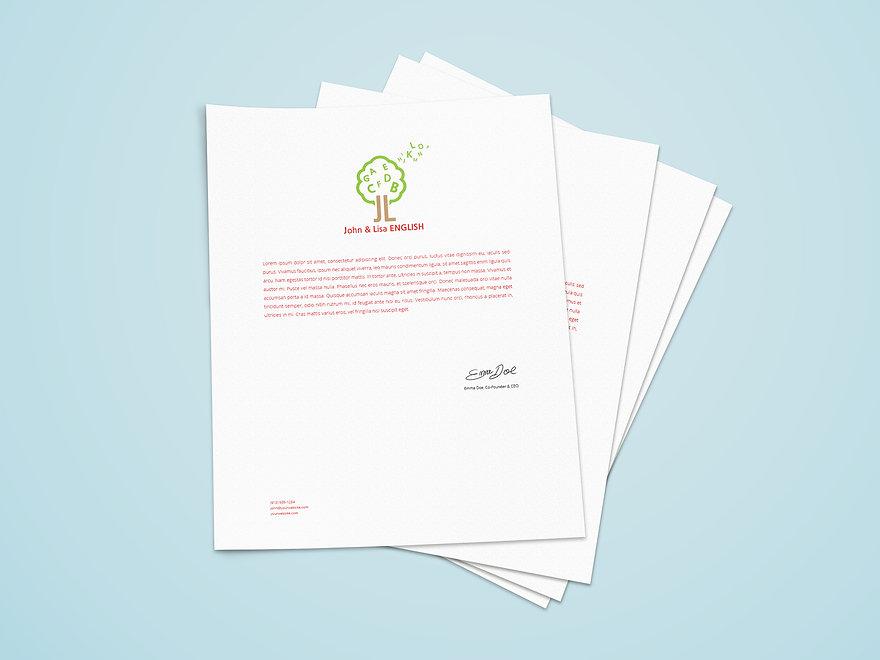 Jhon & Lisa English Academy-Letterhead Design