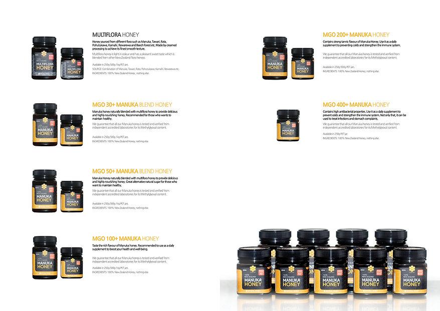 Natural Honey Ltd-Catalogue Design