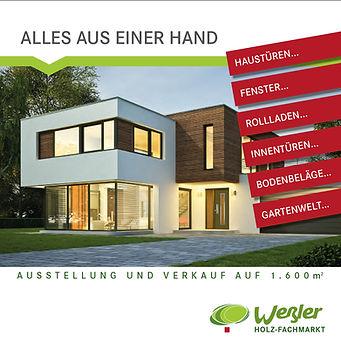 Weßler Holzfachmarkt Katalog Broschüre Flyer
