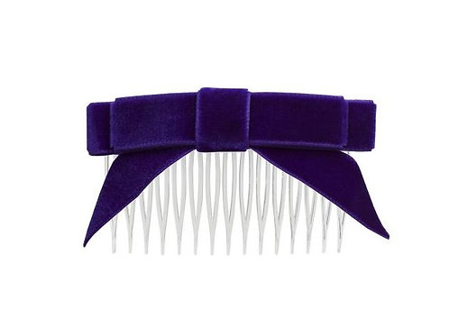 Velvet Hair Bow with Tails