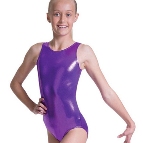 Foil Scoop Neck Tank Leotard -Child