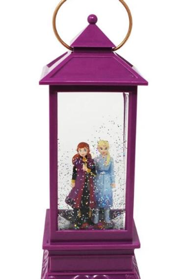 Anna and Elsa Glitter Lantern