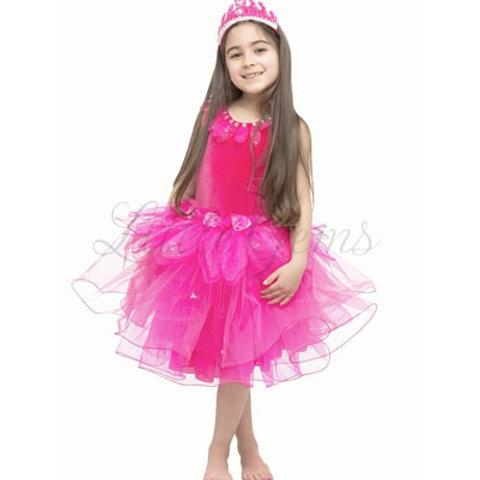 Lotus Dress in Hot Pink
