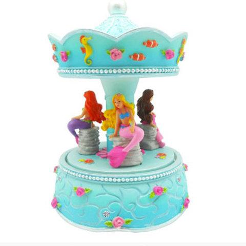 Summer mermaid musical carousel
