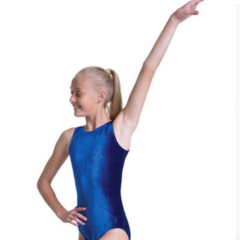 Velvet Scoop Tank Leotard -Child