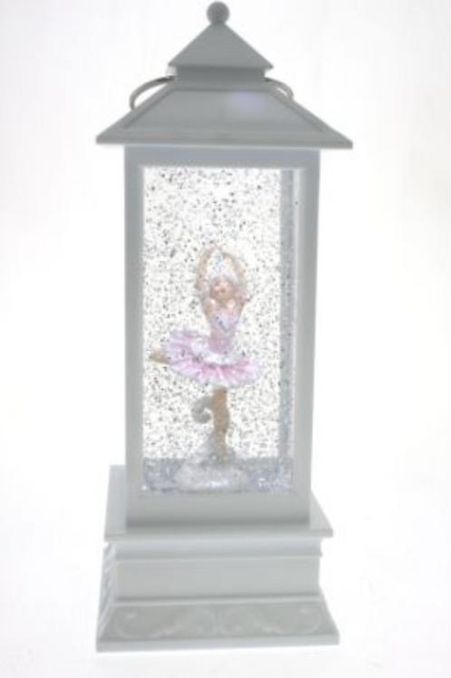 Pink Ballerina on White Lantern