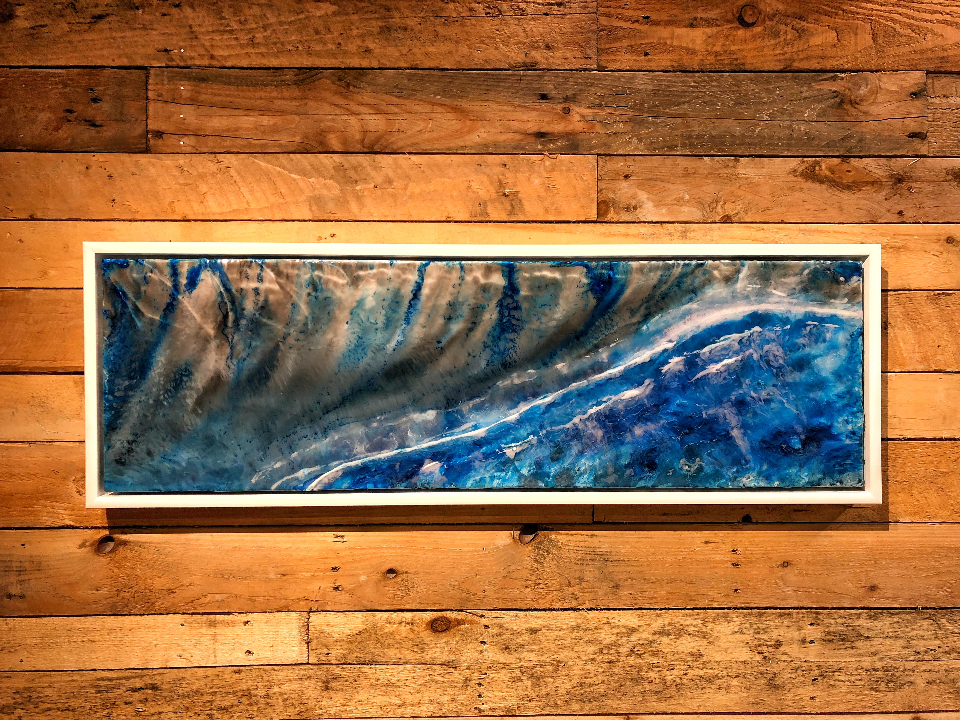 'Rolling waves' Resin picture