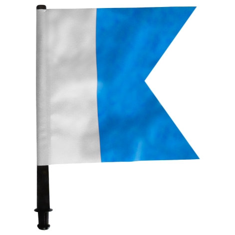 Spare blue Aplha flag for boat