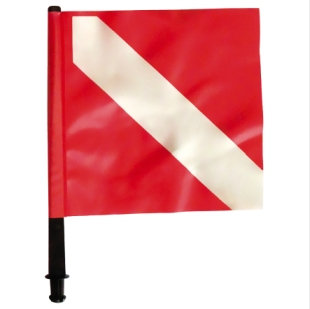 Spare red Fox flag for buoy