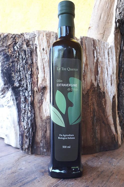 Olio Extra vergine di oliva italiano, molito a freddo