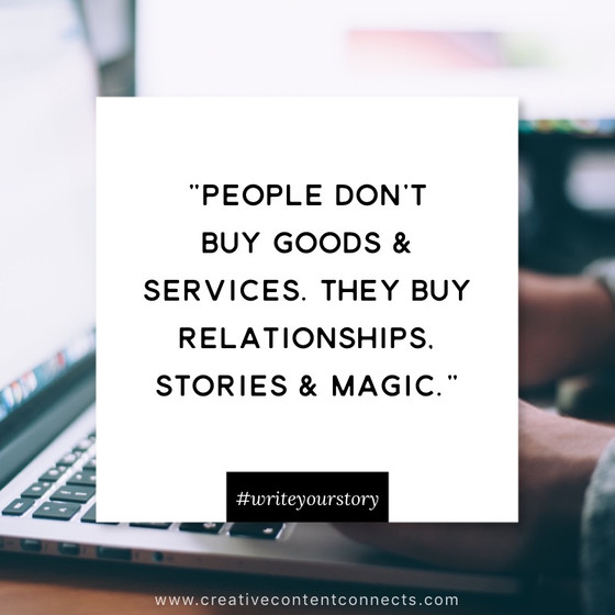 People buy Relationships, Stories and Magic!