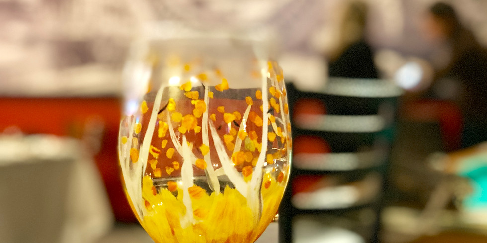 wine glass paint night!!