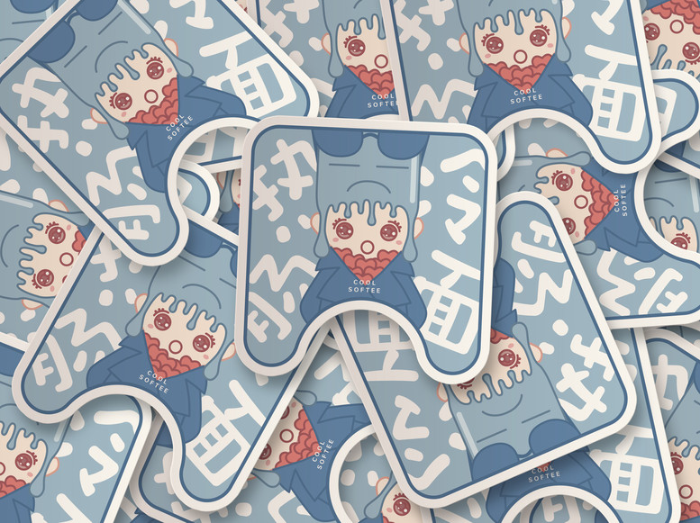 Cool Softee Sticker