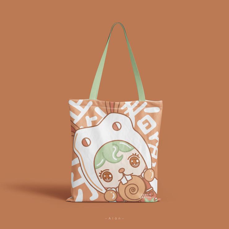 Teeth Softee Tote Bag